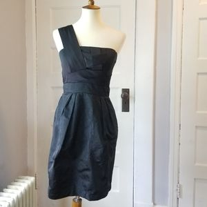 Max and Cleo One Shoulder Cocktail Dress, Size 6